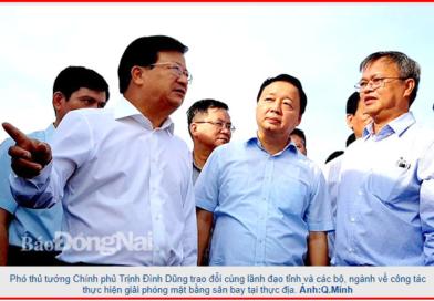 Các bộ, ngành và Đồng Nai tập trung cho dự án Sân bay Long Thành